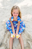 Cute girl on the beach Royalty Free Stock Photo