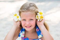 Cute girl on the beach Royalty Free Stock Image