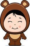 Cute Girl Bear Stock Image