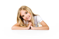 Cute girl with beautiful long hair Royalty Free Stock Photography