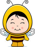 Cute Girl Bee. A cartoon cute girl dressed as a bee royalty free illustration
