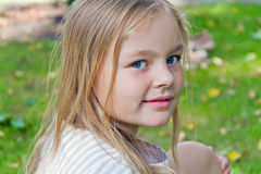 Cute girl with big blue eyes Royalty Free Stock Image