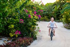 Girl on bike ride Royalty Free Stock Photo