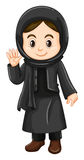 Cute girl in black costume Royalty Free Stock Photos
