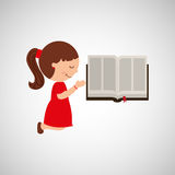 cute girl blessed bible graphic Royalty Free Stock Photography