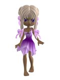 Cute girl with blond hair. 3D render of a cute toon girl with blond hair and pink dress Royalty Free Stock Photos