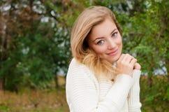 Cute girl. Cute blondie girl in the park Stock Images