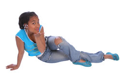 Cute girl blowing a kiss. Young teenager blowing a kiss toward the camera Stock Photography