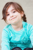 Cute girl in blue Royalty Free Stock Image