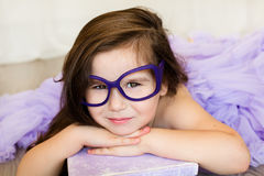 Cute girl with the book Royalty Free Stock Photo