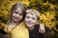 Cute girl and a boy Royalty Free Stock Images