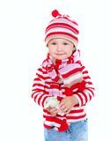 Cute girl in bright clothes Royalty Free Stock Images