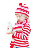 Cute girl in bright hat Royalty Free Stock Photography