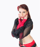 Cute girl in burlesque costume Stock Image