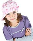 Cute girl with cap Royalty Free Stock Photos
