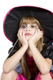 Cute girl in carnival fancy dress on the eve of  H Royalty Free Stock Photos