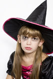 Cute girl in carnival fancy dress on the eve of  H Royalty Free Stock Photo
