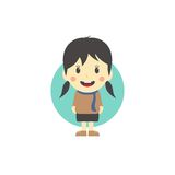 Cute girl cartoon character Royalty Free Stock Image