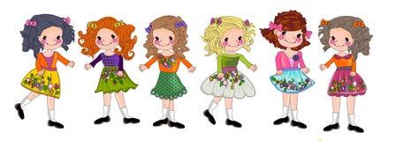 Cute girl cartoon Royalty Free Stock Photography
