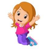 Cute girl cartoon Stock Photos