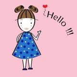 Cute girl cartoon vector Stock Photos