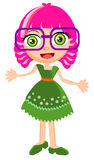 Cute girl cartoon vector Royalty Free Stock Photography