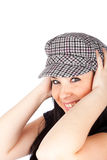 Cute girl with a casual cap Stock Photography