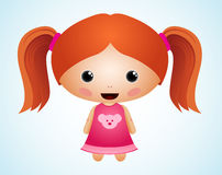 Cute Girl Character Royalty Free Stock Photo