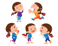 Cute girl character Royalty Free Stock Photography