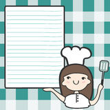 Cute girl chef with an empty space Stock Photography