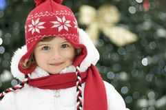 Cute girl at Christmas Royalty Free Stock Images