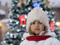 Cute girl at Christmas Stock Image