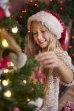 Cute girl during Christmas Stock Image