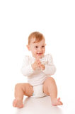 Cute girl clapping Royalty Free Stock Photo