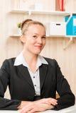 Cute girl a company representative with a beautiful smile Stock Image