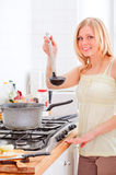 Cute Girl Cooking Royalty Free Stock Photos