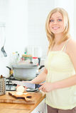 Cute Girl Cooking Royalty Free Stock Photography