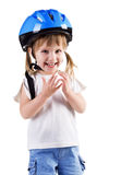 Cute girl in crash helmet Royalty Free Stock Image