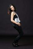 Cute girl dancing Royalty Free Stock Photos