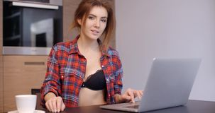 Cute Girl Doing Her Daily Routine stock video