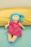 Cute Girl Doll at Bed Royalty Free Stock Images