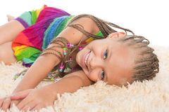 Cute girl with dreadlocks Royalty Free Stock Photography