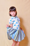 Cute girl in dress Royalty Free Stock Photography