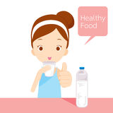 Cute girl drinking water Royalty Free Stock Photos