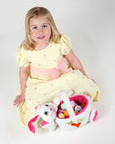 Cute girl with Easter eggs Royalty Free Stock Photography