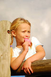 Cute girl eating ice cream Royalty Free Stock Photo