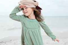 Cute girl enjoys summer day. Stock Photography