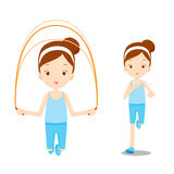 Cute girl exercising for good wellness Stock Images