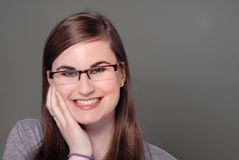 Cute girl in eyeglasses / spectacles Royalty Free Stock Images