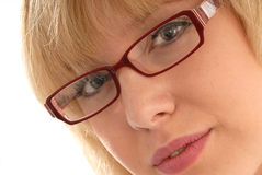 Cute girl in eyeglasses / spectacles Stock Photo